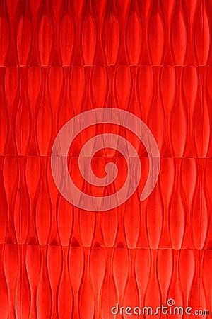Het levendige vermilion abstracte ontwerp van het fluweelbehang
