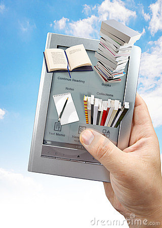 Het lezen van 3D e- boek