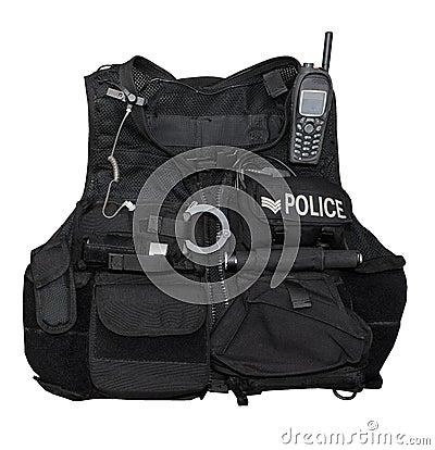 Het lichaamspantser van de politie