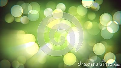 Het lichte verse effect van de bokehaard Vage de lente bos Magische glanzende abstracte achtergrond stock footage