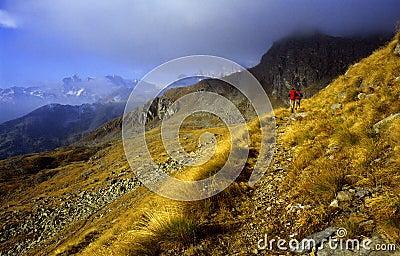 Het lopen in bergen