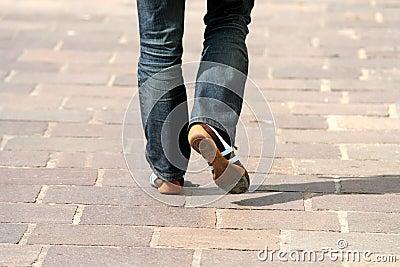 Het lopen in de straat