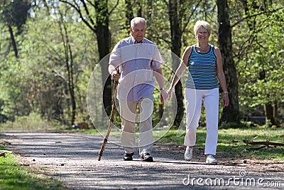 Het lopen door het park