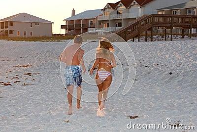Het lopen op Zand
