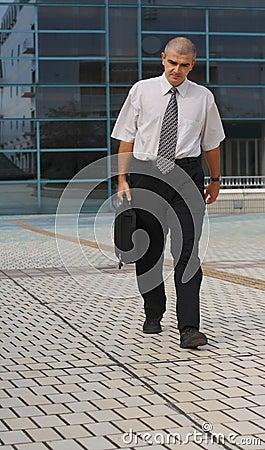 Het lopen van de zakenman