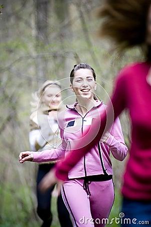 Het lopen van vrouwen