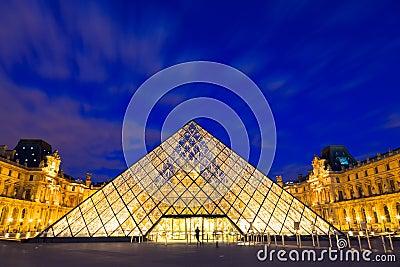 Het Louvre, Parijs Redactionele Foto