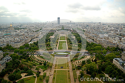 Het luchtpanorama van Parijs