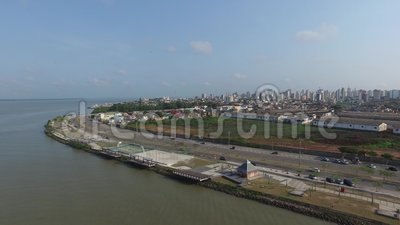 Het luchtpunt van meningsver o Rio in Belem doet Paragraaf-stad November 2016 - Brazilië stock videobeelden