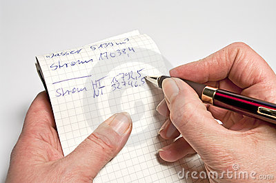 Het maken van berichten op een blocnote