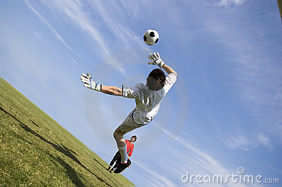 Het maken van de Bewaarder van het Doel van de Voetbal van het voetbal spaart