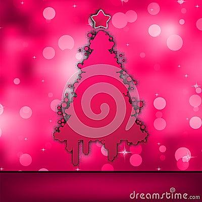 Het malplaatje van de kerstkaart. EPS 8