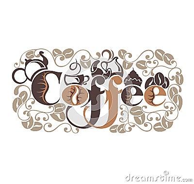 Het malplaatje van het koffieontwerp vector illustratie afbeelding 59420101 - Koffiebar decoratie ...