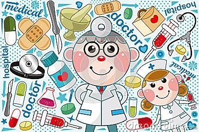Het medische patroon van de arts