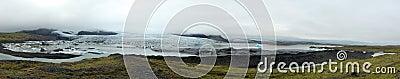 Het Meer en de Gletsjer van Galcier