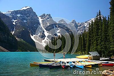 Het meer van de morene, Banff Nationaal Park, Canada