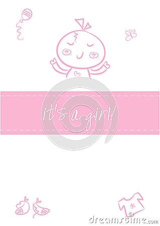 Het meisje van de baby - de Aankondiging van de Geboorte