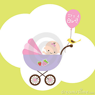 Het Meisje van de baby in Wandelwagen