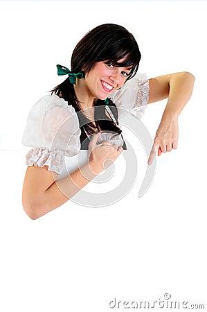 Het meisje van het teken royalty vrije stock afbeelding afbeelding 10960496 - Ruimte van het meisje parket ...