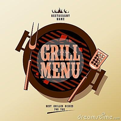 Het menu van de grill.