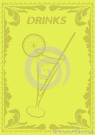 Het menu van dranken