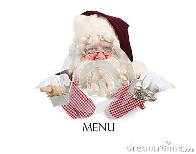 Het menu van Kerstmis