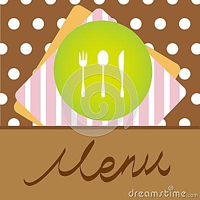 Het menuconceptontwerp van het restaurant