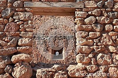Het metselwerk van het metselwerk, Fragocastelo, Kreta