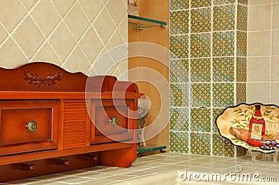 Het meubilair en de ornamenten van het huis