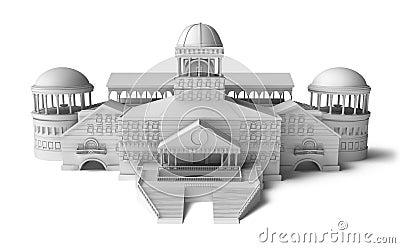 Het model van het paleis