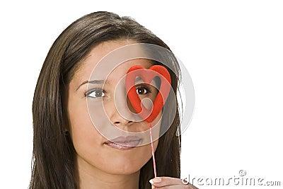 Het monocle van de valentijnskaart