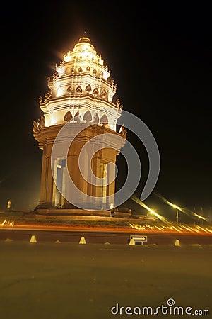 Het Monument Phnom Penh, Kambodja van de onafhankelijkheid