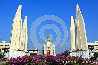 Het Monument van de Democratie van het Oriëntatiepunt â van Bangkok