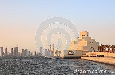 Het museum van Doha en skylne