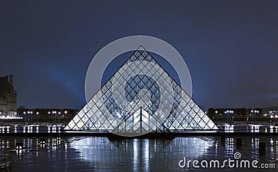 Het Museum van het Louvre Redactionele Stock Foto