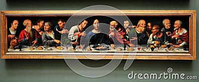 Het museum van het Louvre - Joos van Cleve - Redactionele Foto