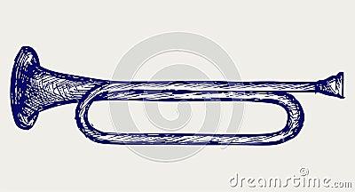 Het muzikale instrument van de wind