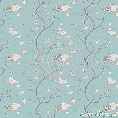 Het naadloze ontwerp van het behang van de vlinder stock afbeelding afbeelding 24637071 - Behang grafisch ontwerp ...