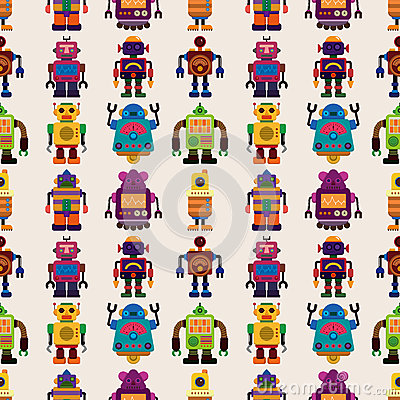 Het naadloze patroon van de Robot