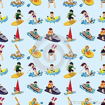 Het naadloze patroon van de watersport