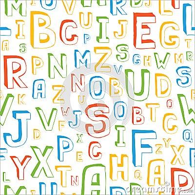 Het naadloze Patroon van het Alfabet