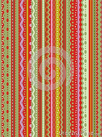 Het naadloze patroon van strepen en van het kant royalty for Papel decorativo rayas