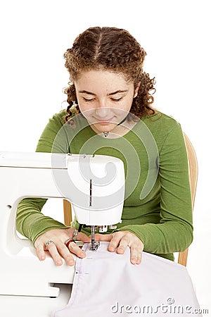 Het naaien van het meisje van de tiener stock fotografie afbeelding 11829432 - Het versieren van de tiener kamer ...