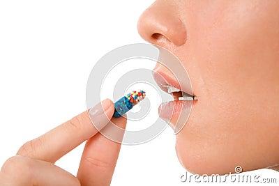 Het nemen van pil