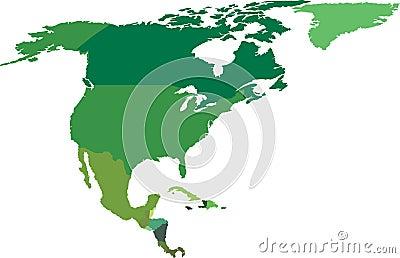Het noorden en Midden-Amerika