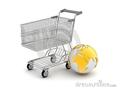 Het online winkelen - conceptenillustratie
