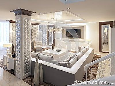 Hoekbank woonkamer design - Deco grote woonkamer ...