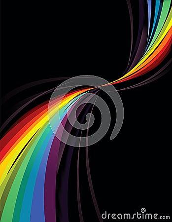 Het ontwerp van de regenboog