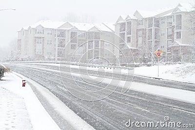 Het onweer van de sneeuw in Fairfax