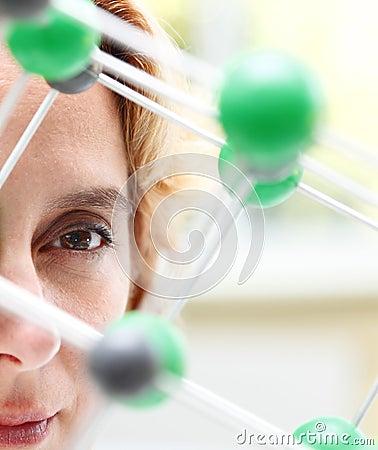 Het oog van een onderzoeker